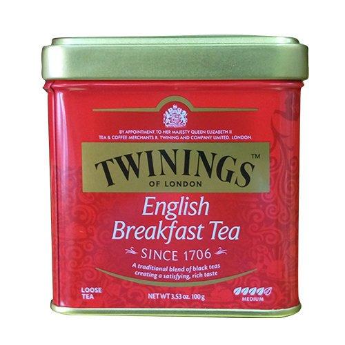 TWINING 唐寧紅茶-英倫早餐茶 罐裝茶葉100g/罐 有效期限:2021/9/26