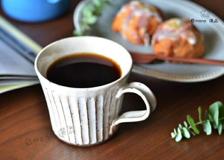日本製 美濃燒  粉引手工刻紋 馬克杯 咖啡杯 現貨