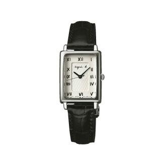 agnes b 1N01-0SC0S(BC3088P1)長方簡約時尚腕錶/白面19*24mm