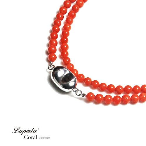 大東山珠寶 嬌貴 全紅沙丁珊瑚項鍊 3