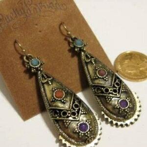 美麗大街【GE0205】歐美外貿原單飾品 復古雙面佛像耳環
