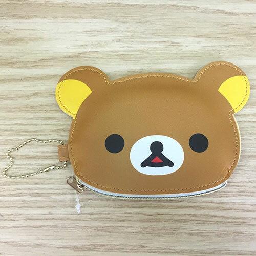 【真愛日本】17070600014 彩邊造型錢包-懶熊大臉 SAN-X 奶熊 奶妹 拉拉熊 零錢包 收納包 化妝包
