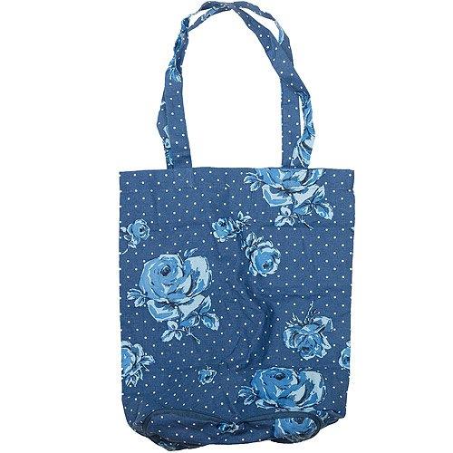 《CreativeTops》Katie復古藍摺疊購物袋
