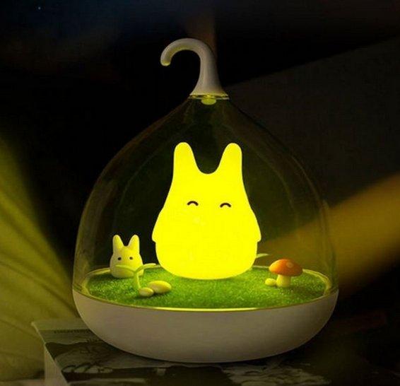 LED小精靈燈(觸控版),LED燈小精靈燈小夜燈露營燈USB充電檯燈掛燈療癒交換禮物小精靈LED微景觀夜燈/小夜燈/餵奶
