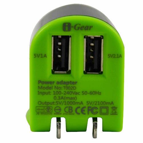 <br/><br/>  [NOVA成功3C]I-Gear 艾吉爾 3100mAh 雙USB 充電器(綠/黑) - T002D-BB  喔!看呢來<br/><br/>
