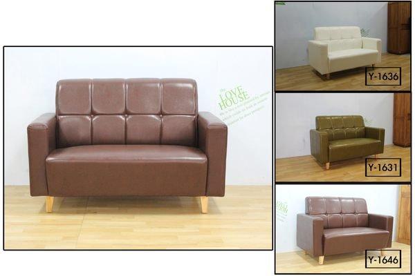 ~石川家居~TW~08 復古美式鈕扣油蠟皮雙人沙發  可訂做尺寸 可改色