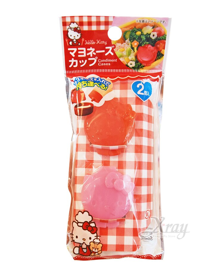 Hello Kitty 塑膠醬汁盒2入,醬料罐 / 分裝罐 / 日本雜貨 / 廚房雜貨 / 醬油罐 / 醬油瓶 / 調理,X射線【C575539】 0