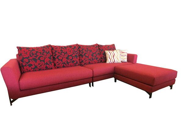 【尚品傢俱】※出清品特賣※923-01米緹L型全拆式沙發