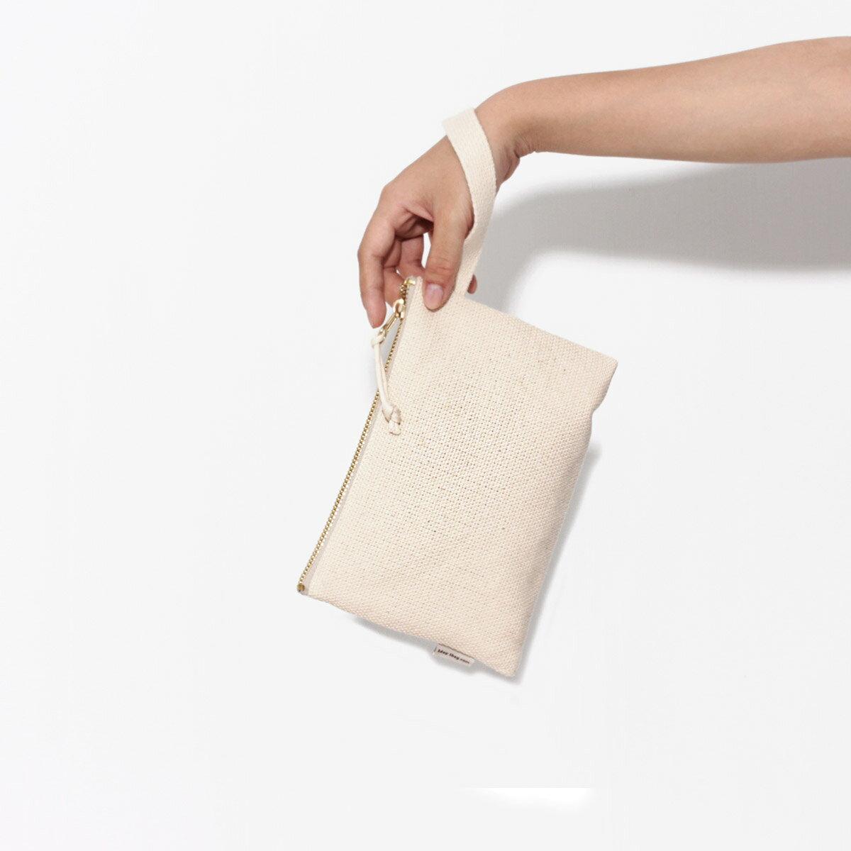 [A5手拿包-原色腕帶] 手拿包/化妝包/零錢包/拉鍊袋/帆布包/Eco包/1day1bag