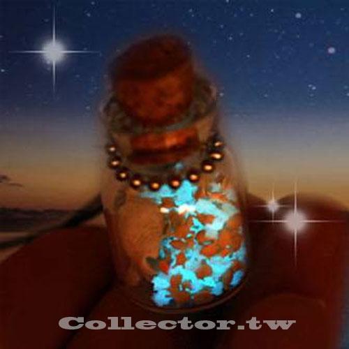 【K16011501】風靡日本螢光幸運星之砂 蓄光星砂 手機鏈/許願瓶 情人節禮物