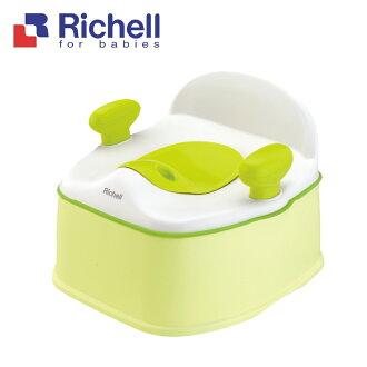 日本【Richell 利其爾】Pottis椅子型3階段訓練便器 - 綠色