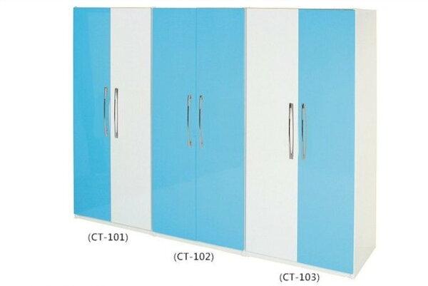 【石川家居】817-02(藍白色)衣櫥(CT-102)(圖中)#訂製預購款式#環保塑鋼P無毒防霉易清潔