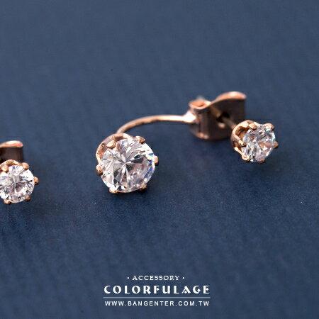 耳針耳環 大小精緻亮鑽 唯美奢華單品 柒彩年代【ND344】一對價格 - 限時優惠好康折扣