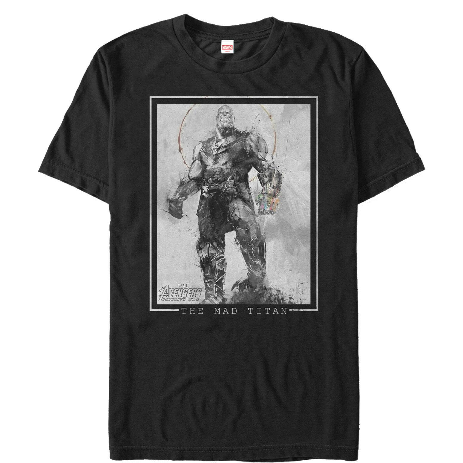 e3b47a6a Marvel Avengers: Infinity War Thanos Grayscale Mens Graphic T Shirt 0