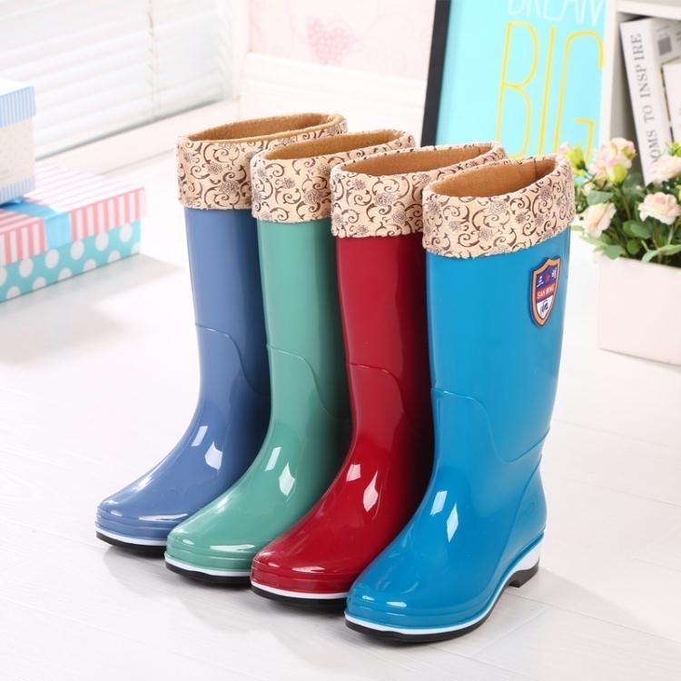 雨鞋高筒雨靴女士中長筒水靴水鞋加絨防滑防水膠鞋套鞋保暖冬