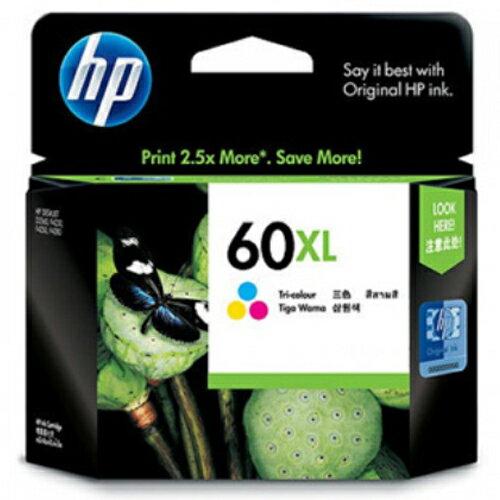 【HP 墨水匣】CC644WA/NO.60XL 原廠高容量彩色墨水匣
