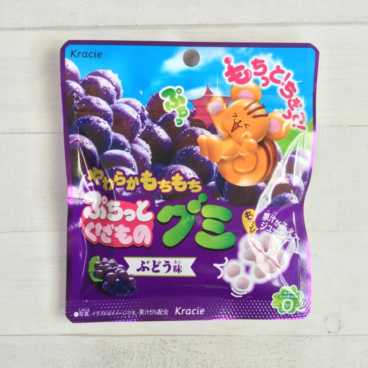 噗啾系列 日本進口 KRACIE 造型軟糖 葡萄口味 (25g)