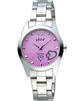 STAR時代錶 9T1603-161S-V 愛戀心時尚腕錶/紫面32mm