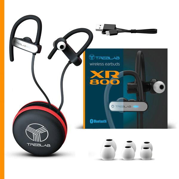 Treblab Xr800 Bluetooth Headphones Best Wireless Earbuds For Sports Running Or Gym Workouts 2018 Best Model Ipx7 Waterproof Sweatproof Secure Fit Noise Cancelling Earphones W Mic Sold By Treblab Rakuten Com Shop