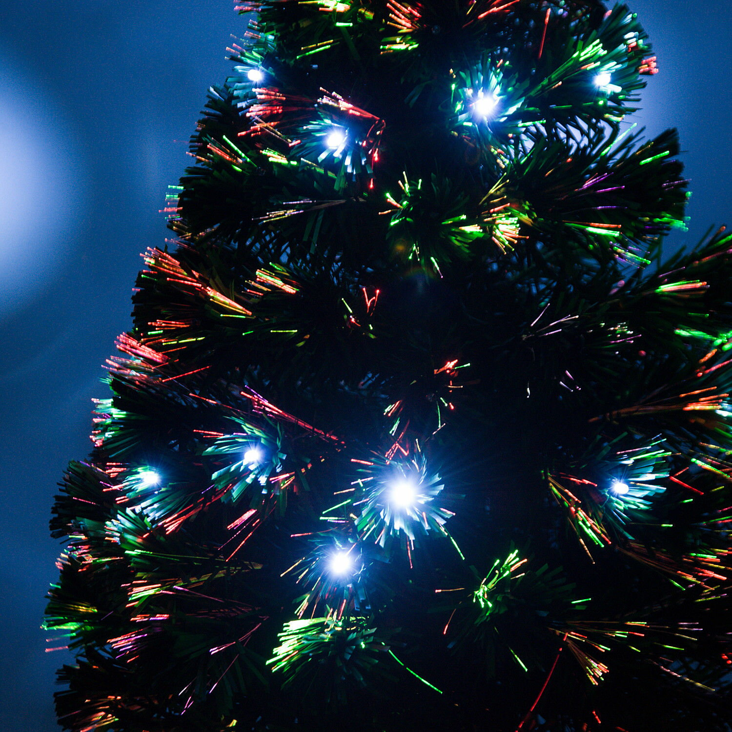 3' Artificial Fiber Optic / LED Light Up Christmas Tree w/ 8 Light Settings and Stand 4