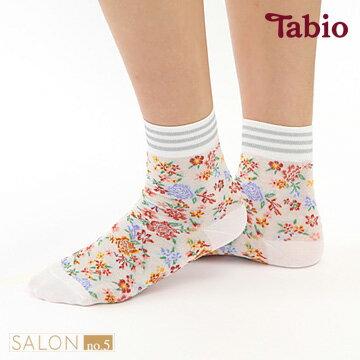 【靴下屋Tabio】線條混搭植物圖騰棉短襪日本職人手做