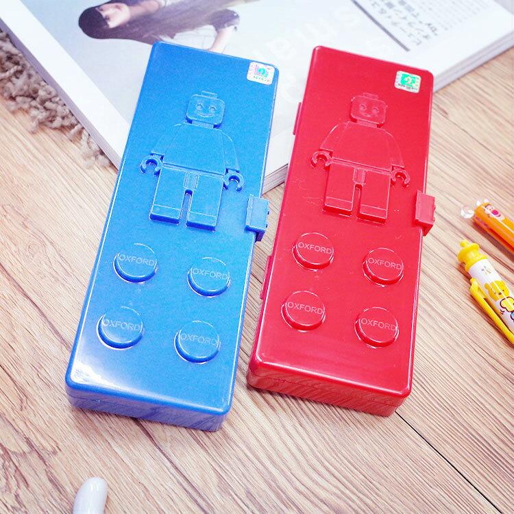 PGS7 其他卡通系列商品 - 樂高 Lego 積木 造型 鉛筆盒 紅色 藍色 小人【SIE61227】