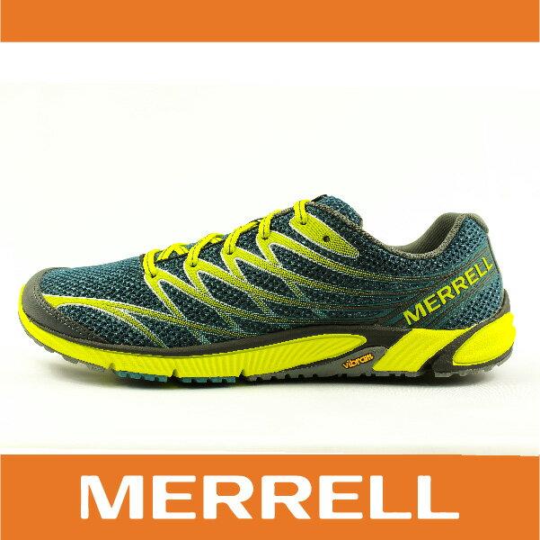 【零碼75折】MERRELL 32477 BARE ACCESS 4 男越野訓練跑鞋 赤足鞋 慢跑 抗菌 防臭 深綠色 萬特戶外運動