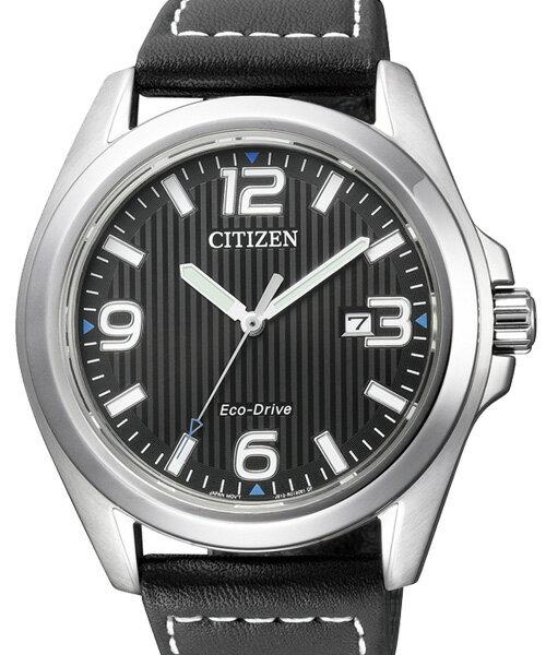 CITIZEN星辰AW1430-19E都會漫步光動能腕錶/黑面42mm