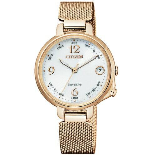 CITIZENLADY'S優雅藍芽米蘭帶光能腕錶EE4032-80A