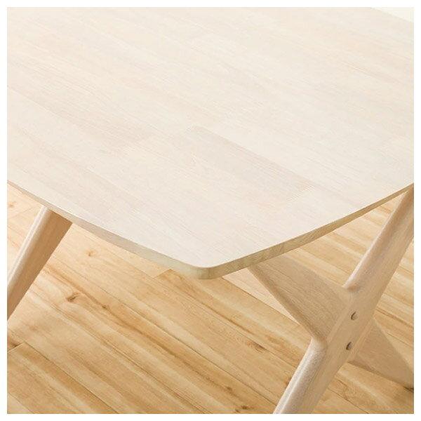 ◎(OUTLET)實木餐桌椅三件組 RELAX WIDE90 WW 橡膠木 福利品 NITORI宜得利家居 4