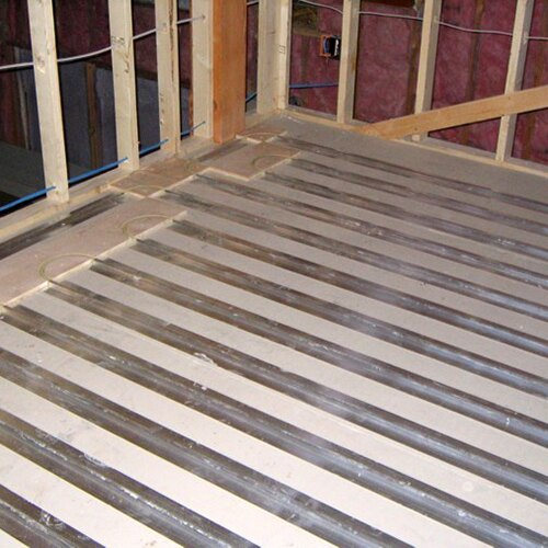 """20-2/' Aluminum Radiant Floor Heat Transfer Plates for 1//2/"""" PEX tubing"""