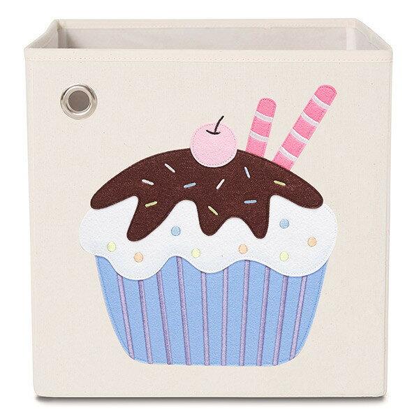 【限時2件特價再88折】美國【kaikai&ash】甜點系列收納箱-櫻桃可可杯子蛋糕