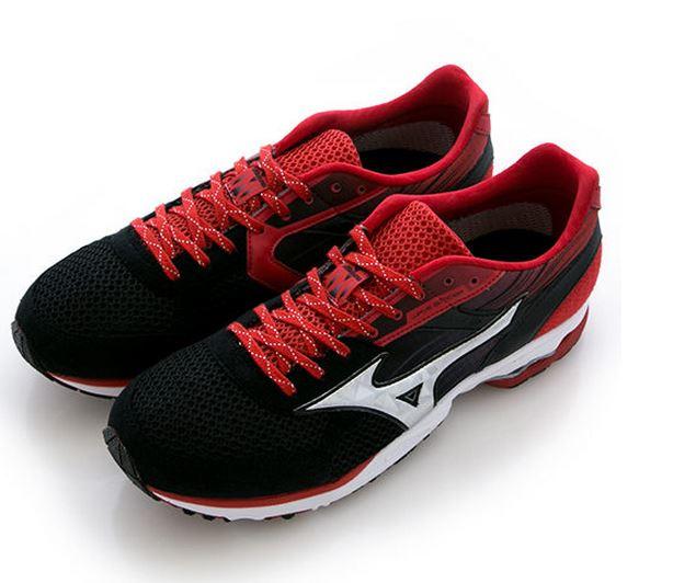 [陽光樂活] MIZUNO 美津濃 男 WAVE SPACER DYNA 2 輕量 路跑鞋 J1GA157703 黑x紅