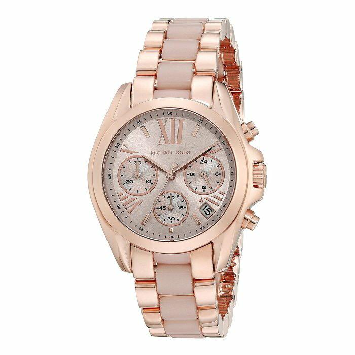 美國百分百【Michael Kors】手錶 MK6066 配件 MK 女錶 三眼計時 不鏽鋼 粉紅玫瑰金 I456