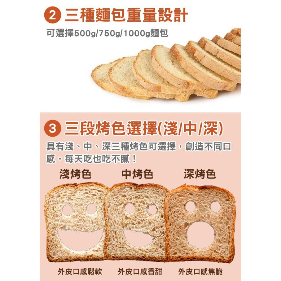 【小太陽2L自動投料製麵包機】吐司機 麵包機 烤麵包機 帕尼尼機 點心機 烤土司機【AB249】 5