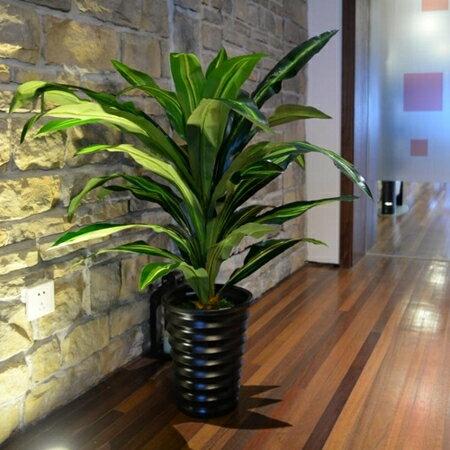 裝飾盆栽 巴西木仿真植物大型盆栽落地塑料綠植室內辦公家居裝飾擺設件 母親節禮物