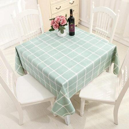 北歐正方形桌布防水防油防燙免洗桌墊塑料PVC厚桌布桌巾 萬客居 母親節禮物