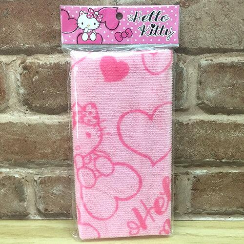 【真愛日本】17051100015 沐浴巾-KT愛心粉 三麗鷗 kitty 凱蒂貓 洗澡巾 去角質 盥洗用品