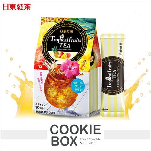 日本 日東紅茶 熱帶 水果 茶粉 99g 春夏 限定 濃郁 即沖 水果 香氣 冷熱 芒果 白桃*餅乾盒子*