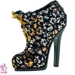GALATEA葛拉蒂高跟鞋造型刷具收納筒(豹紋黑)