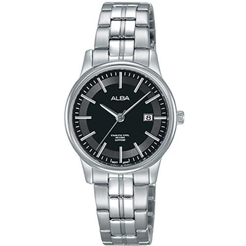 ALBA雅柏VJ22-X257D(AH7N67X1)炫色時尚腕錶黑28mm