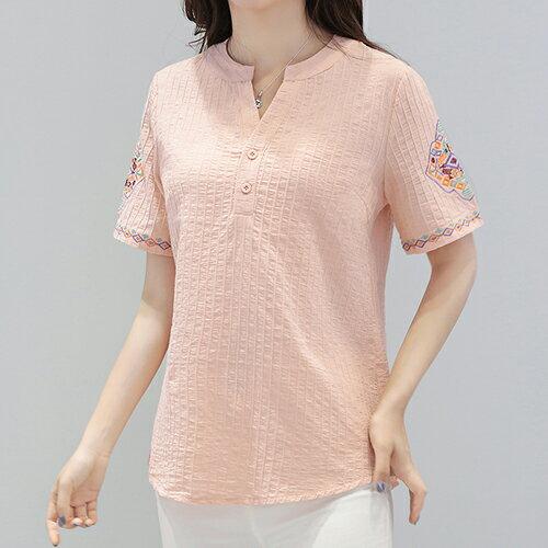*ORead*棉麻短袖T恤(4色M~5XL) 3