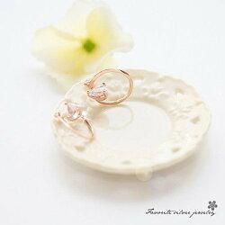 扭曲心型鋯石耳環 GE9140【櫻桃飾品】【GE9140】
