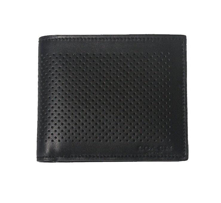 COACH F75197 男士新品經典短款錢夾黑色