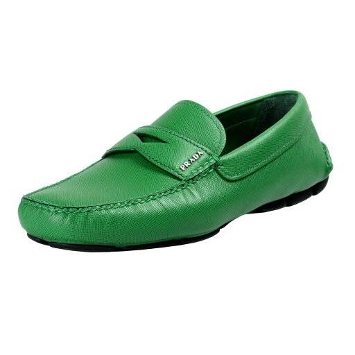 Prada Men's Saffiano Leather Loafers Driving Shoes