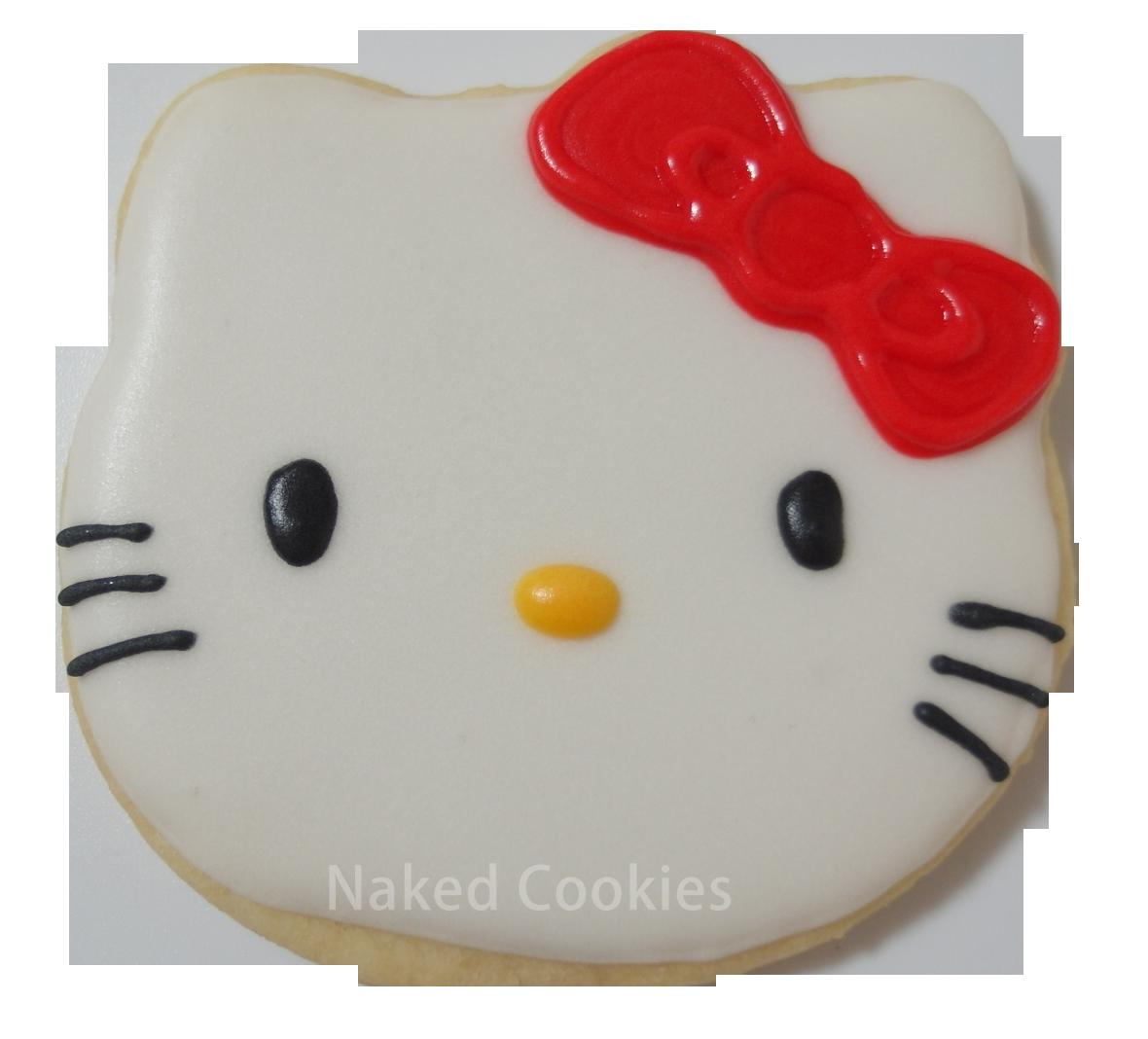 【裸餅乾Naked Cookies】Kitty-特殊客製6入-創意手工糖霜餅乾,婚禮/生日/活動/收涎/彌月
