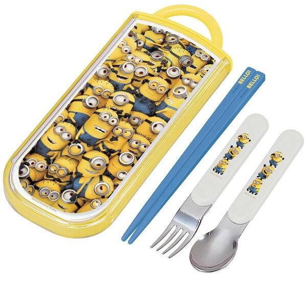 X射線 精緻禮品:X射線【C310768】神偷奶爸小小兵3合1餐具組,餐具組環保餐具開學必備環保餐具筷子湯匙