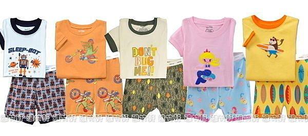 淇淇婦幼館【GA001】100%純棉居家短袖套裝,也可當睡衣褲喔,1-7T(不挑款)