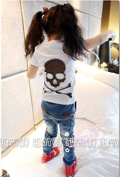 淇淇婦幼館 ~XT014~100^%棉質今夏 男 女上衣 骷髏短袖T恤 短袖上衣