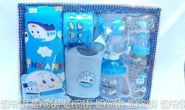 淇淇婦幼館【QQ018】新幹線 車車 寶寶用品七件組超值彌月禮盒 台灣製造